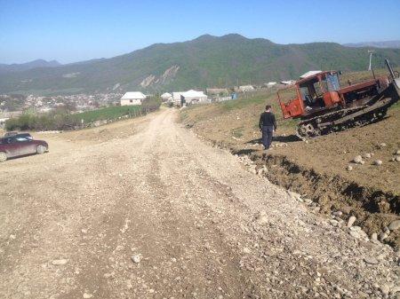 Ремонтные работы подъездной дороги к новому полигону  ТБО сельского поселения « село Ленинаул»
