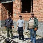 Работы по прокладке 300 м. трубы для газоснабжения в мкр-не Бурсум.