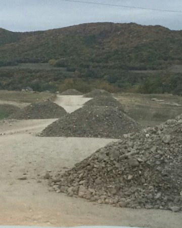 Гравирование всей въездной дороги в мкр-н Бурсум