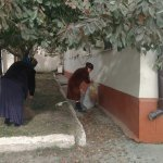 Учреждения и организации села, а также жители села провели субботник