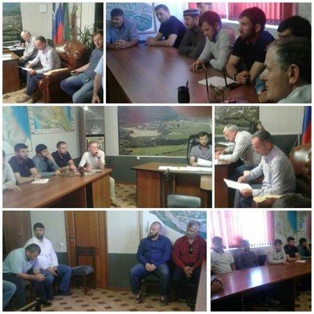 Состоялась 1 сессия Собрания депутатов МО «с.Ленинаул» Казбековского района 7 созыва.